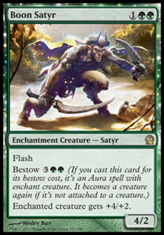 Magic the Gathering Theros Single Boon Satyr Foil - NEAR MINT (NM)