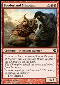 Magic the Gathering Theros Single Borderland Minotaur - NEAR MINT (NM)