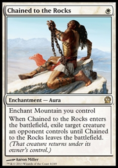 Magic the Gathering Theros Single Chained to the Rocks Foil - NEAR MINT (NM)