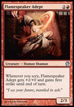 Magic the Gathering Theros Single Flamespeaker Adept - NEAR MINT (NM)