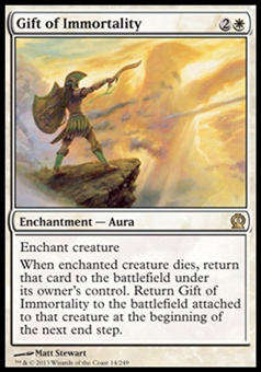 Magic the Gathering Theros Single Gift of Immortality - NEAR MINT (NM)