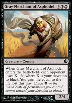 Magic the Gathering Theros Single Gray Merchant of Asphodel - NEAR MINT (NM)