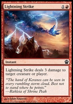 Magic the Gathering Theros Single Lightning Strike - NEAR MINT (NM)