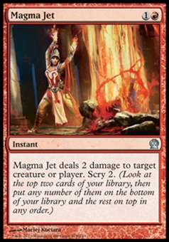 Magic the Gathering Theros Single Magma Jet Foil - NEAR MINT (NM)