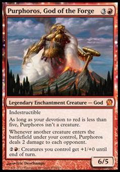 Magic the Gathering Theros Single Purphoros, God of the Forge - NEAR MINT (NM)