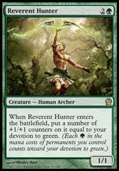 Magic the Gathering Theros Single Reverent Hunter - NEAR MINT (NM)