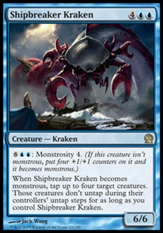 Magic the Gathering Theros Single Shipbreaker Kraken Foil - NEAR MINT (NM)