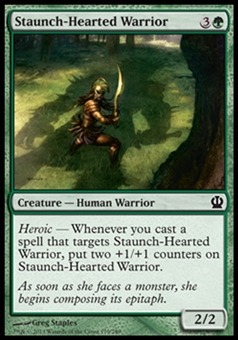 Magic the Gathering Theros Single Staunch-Hearted Warrior - NEAR MINT (NM)