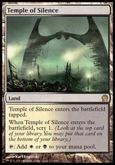 Magic the Gathering Theros Single Temple of Silence - NEAR MINT (NM)