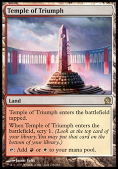 Magic the Gathering Theros Single Temple of Triumph - NEAR MINT (NM)