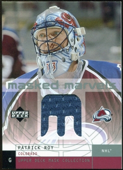 2002/03 Upper Deck UD Mask Collection Masked Marvels Jerseys #MMPR Patrick Roy