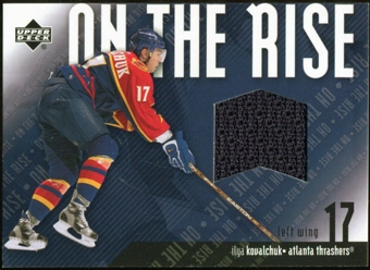 2002/03 Upper Deck On the Rise Jerseys #ORIK Ilya Kovalchuk