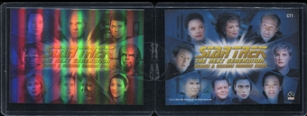 2013 Rittenhouse Star Trek The Next Generation Heroes and Villains Montage Case Toppers #CT1 Heroes Montage