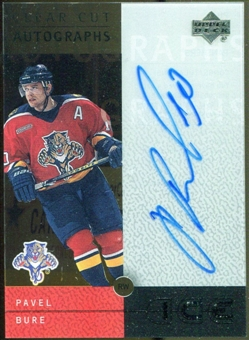 2000/01 Upper Deck Ice Clear Cut Autographs #PB Pavel Bure Autograph