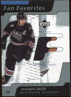 2002/03 Upper Deck Fan Favorites Jerseys #JJ Jaromir Jagr