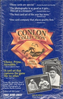 1993 Conlon Collection Baseball Hobby Box
