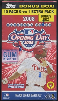 2008 Topps Opening Day Baseball 11-Pack Box