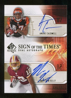 2008 Upper Deck SP Authentic Sign of the Times Duals #CK Andre Caldwell/Malcolm Kelly Autograph /99
