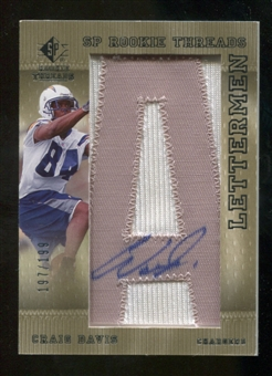2007 Upper Deck SP Rookie Threads #146 Craig Buster Davis Autograph /250