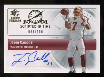 2007 Upper Deck SP Rookie Threads Scripted in Time Autographs #SITCA Jason Campbell Autograph /100