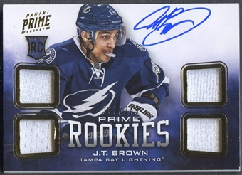 2012/13 Panini Prime #145 J.T. Brown Rookie Jersey Auto #161/249