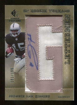 2007 Upper Deck SP Rookie Threads #153 Johnnie Lee Higgins Autograph /250