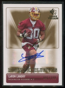 2007 Upper Deck SP Rookie Threads Rookie Exclusive Autographs #RELL LaRon Landry Autograph /100