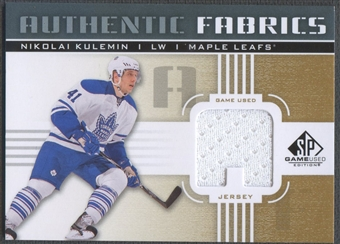 2011/12 SP Game Used #AFNK Nikolai Kulemin Authentic Fabrics Gold Jersey