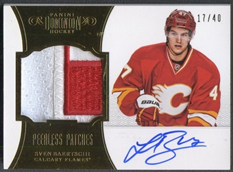 2012/13 Dominion #7 Sven Baertschi Rookie Peerless Patch Auto #17/40