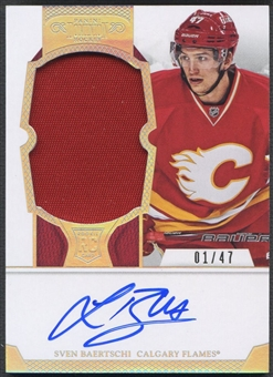 2012/13 Dominion #109 Sven Baertschi Rookie Parallel Patch Auto #01/47