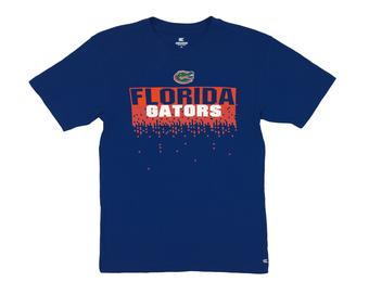 Florida Gators Colosseum Blue Check Point Dual Blend Tee Shirt (Adult XL)