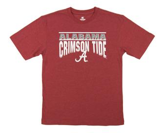 Alabama Crimson Tide Colosseum Crimson Frontline Dual Blend Tee Shirt (Adult XX-Large)