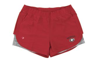 Georgia Bulldogs Colosseum Womens Red Runaway Shorts (Womens M)