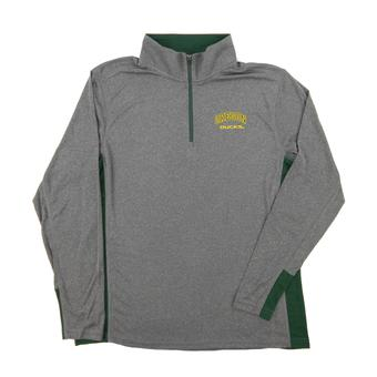 Oregon Ducks Colosseum Gray Ridge Runner 1/4 Zip Performance Long Sleeve Shirt