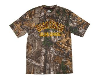 Minnesota Golden Gophers Colosseum Real Tree Trail Performance Short Sleeve Tee Shirt (Adult S)