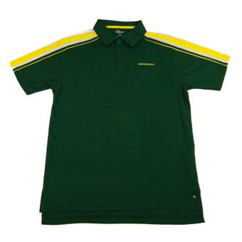 Oregon Ducks Colosseum Green Chiliwear Admiral Performance Polo