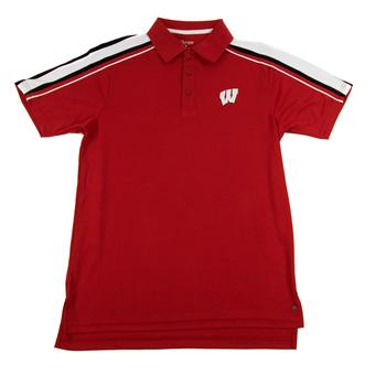 Wisconsin Badgers Colosseum Red Chiliwear Admiral Performance Polo (Adult XXL)