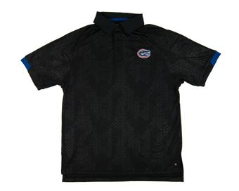 Florida Gators Colosseum Black Gridlock Chiliwear Performance Polo Shirt (Adult S)