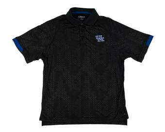 Kentucky Wildcats Colosseum Black Gridlock Chiliwear Performance Polo Shirt (Adult L)
