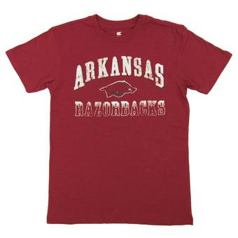 Arkansas Razorbacks Colosseum Red Contour Dual Blend Tee Shirt (Adult XX-Large)