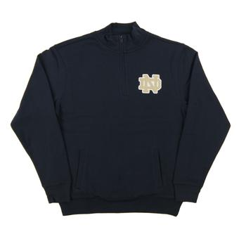 Notre Dame Colosseum Navy Dual Blend 1/4 Zip Fleece (Adult Large)