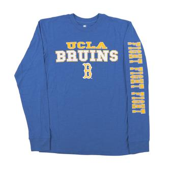 UCLA Bruins Colosseum Blue Game Changer Dual Blend Long Sleeve Tee Shirt (Adult Small)