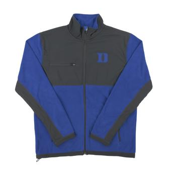 Duke Colosseum Blue & Gray Mesa Corded Polar Full Zip Fleece (Adult Large)