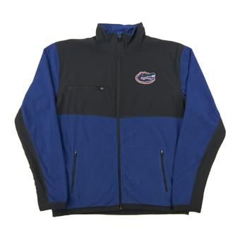 Florida Gators Colosseum Blue & Gray Mesa Corded Polar Full Zip Fleece (Adult Large)