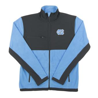 North Carolina Tar Heels Colosseum Blue & Gray Mesa Corded Polar Full Zip Fleece (Adult Small)
