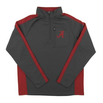 Alabama Colosseum Crimson & Gray Defender 1/4 Zip Fleece (Adult Medium)