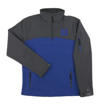Duke Colosseum Blue & Gray Plow 1/4 Zip Jacket (Adult Large)
