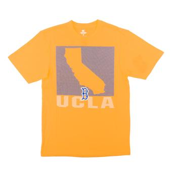 UCLA Bruins Colosseum Yellow State of the Union Dual Blend Tee Shirt (Adult XX-Large)