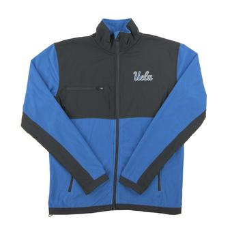 UCLA Bruins Colosseum Blue & Gray Mesa Corded Polar Full Zip Fleece (Adult XX-Large)