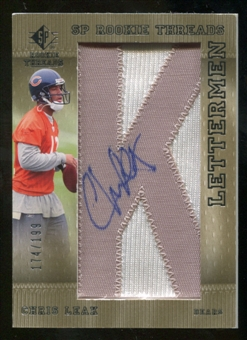 2007 Upper Deck SP Rookie Threads Rookie Lettermen Silver #111 Chris Leak Autograph /199
